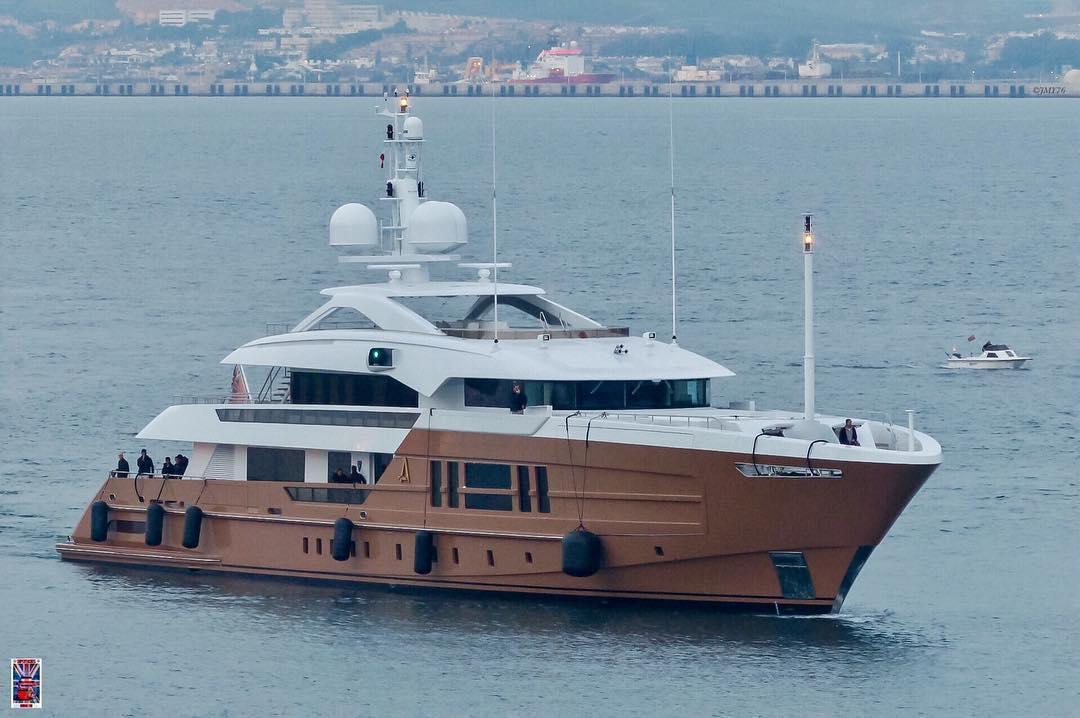 Heesen's 55m M/Y Azamanta. Photo by Jarrad @ superyachts_gibraltar