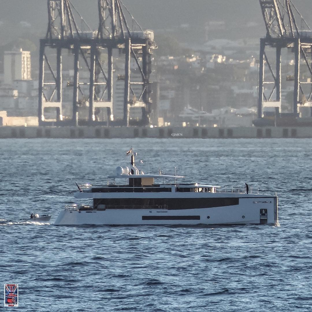 Feadship's M/Y Kamino near Gibraltar. Photo by Jarrad @ superyachts_gibraltar