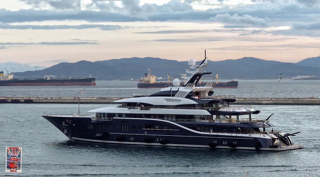 The queen of FLIBS 2016 - Lurssen's Solandge. Photo by Jarrad @ superyachts_gibraltar