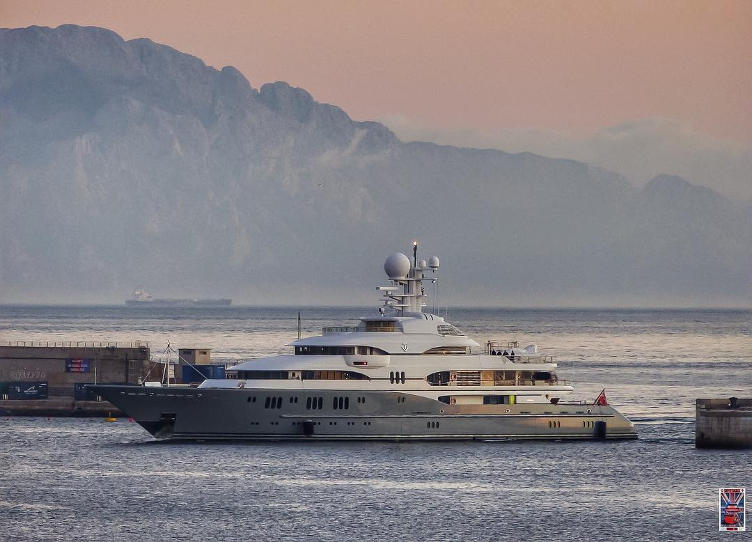 Lurssen's 257' superyacht TV. Photo by Jarrad @ superyachts_gibraltar
