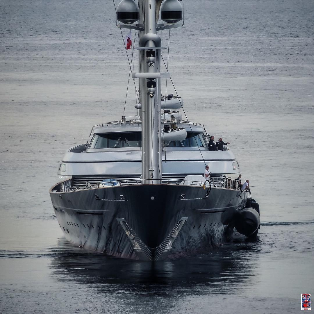 Bow shot of the Maltese Falcon. Photo by Jarrad @ superyachts_gibraltar