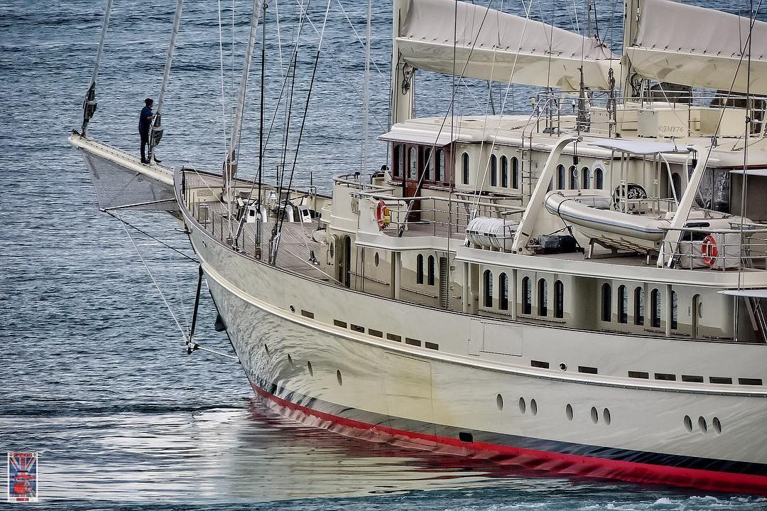 Sailing Yacht Athena built by Royal Huisman ranks as one of the world's largest yachts. Photo by Jarrad @ superyachts_gibraltar